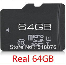 Good Quality 64GB 64 GB TF Card Real 64G 64 G Micro SD HC TF Card MICROSDHC 64GB Memory Card CLASS 10(China (Mainland))
