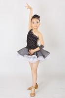 New! 2013 Hot selling girl One-Shoulder Latin perform dress 3~15T Bling/Glitter child/kid Custom-Size competition/dance costume