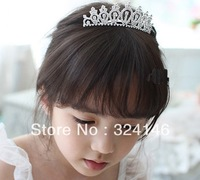 Free shipping factory price 6pcs/lot guaranteed100% crystal birthady tiara special Crown Princess crown headwear hotsale