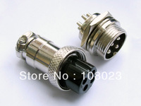Free shipping  GX16 diameter 16mm 4-Pin XLR Audio M & F Chassis Connector / CNC Bipolar Stepper Motor Connectors