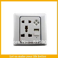 Single Led Usb Port Wall Mount Socket