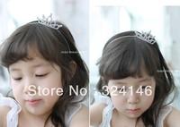 Free shipping factory price 6pcs/lot guaranteed100% crystal birthady tiara hairbands Crown Princess crown headwear hotsale