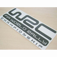 Free Shipping Fashion small carbon fiber wrc car stickers car sticker 25cm