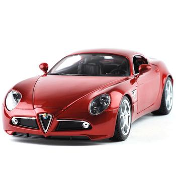 free shipping, Alloy car model alfa romeo 8c red