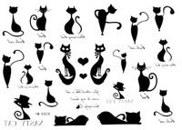 38 tattoo stickers sexy pussy cat small tattoo female d26