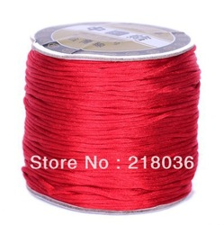 HOT 80m Red Chinese Knot Jewelery Thread Cord DIY Jewelry 1mm C116(China (Mainland))