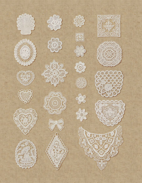 Free Shipping,Handmade DIY Accessaries,100% cotton embroidery Lace,motif fabric hot fixed,24 Pcs different design,48Pcs/Lot(China (Mainland))