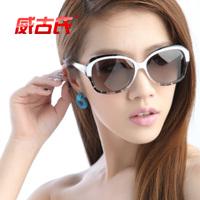 Women's sunglasses polarized sun glasses fashion diamond big frame sunglasses 9008