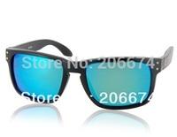 NEW OREKA WG009 Black TR90 Frame & REVO Coating White-Blue Polaroid Lenses Retro Style Glasses (Black)+free shipping