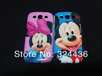 hot! new design Mickey Mouse case hard back cover for samsung Galaxy SIII i9300 10pcs/lot+ free shipping