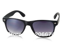 NEW OREKA Retro Black PC Frame Gray PC Lens Sunglasses(Black)+free shipping