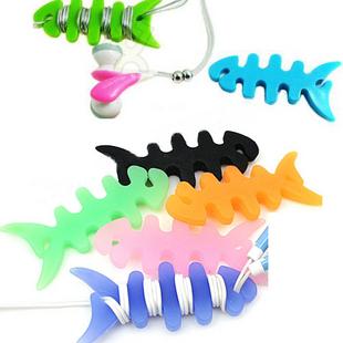 10pcs a lot free ship 10pcs a lot New for 2013 free ship Fish bone earphones cable winder line hub coil winding stick
