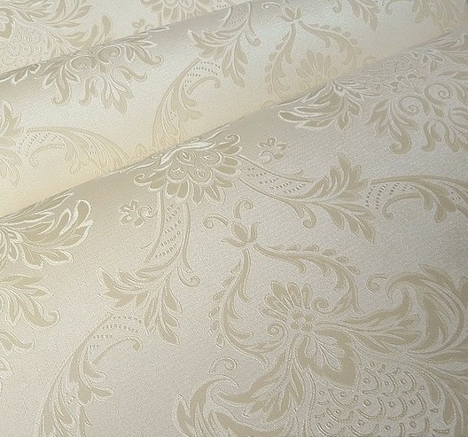 Vintage Classic Beige French Modern Damask Feature Wallpaper Wall paper Roll For Living Roo