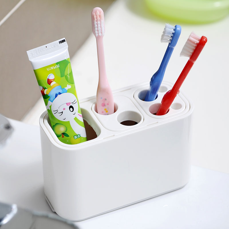 Lec management arm toothbrush toothpaste storage rack dental frame bathroom shelf(China (Mainland))
