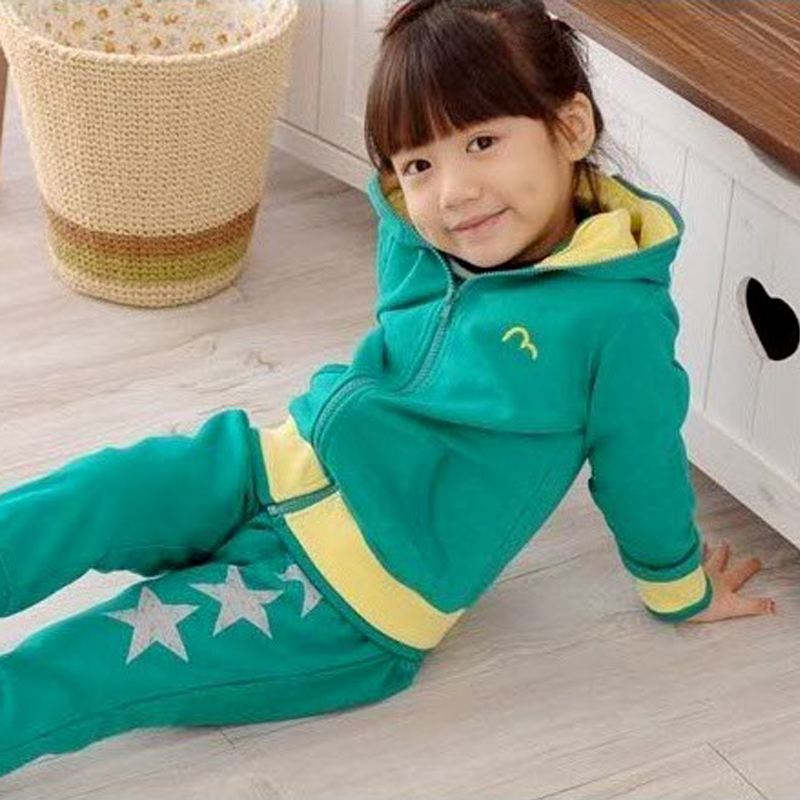 2012 spring male winter girls clothing sports set school uniform 343(China (Mainland))