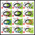Dscount 60% $0.77/pcs, free shipping,Shamballa Bracelet, 9 pcs resin rhinestone beads,36 colors can choose,20pcs/lot
