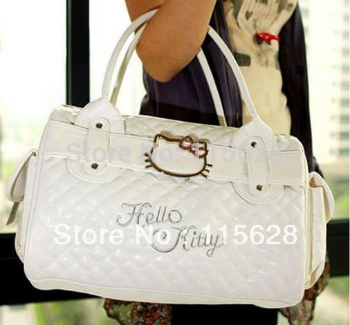 hello kitty bags HelloKitty for Women Girl Shoulder Bag Purse Handbag Tote Shining Gift white pink Bag(China (Mainland))