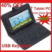 "USB Keyboard Leather Cover Case Bag for 7"" Tablet PC"