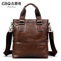 Gsq taste fashion business casual men's cowhide man bag shoulder bag messenger bag handbag