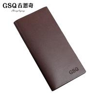 Gsq cowhide wallet man bag wallet male long design wallet