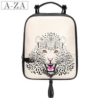 Aza brief fashion cowhide portable 1336 casual backpack