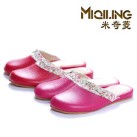 MICKEY nsutite at home  leather  home  spring and autumn  slip-resistant wet floor  9372 slippers