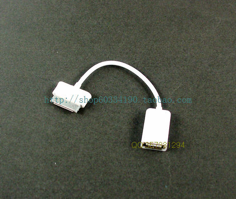 2013 New Arrival Free Shipping For samsung p7510 p7310 p7500 usb mouse usb flash drive keyboard card reader otg adapter cable(China (Mainland))