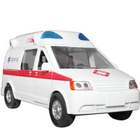 free shipping 120 ambulance alloy car models car model acoustooptical music open the door