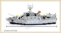 BANBAO 458pcs/set Children's DIY Assembling Frigates Model Educational Toy Blocks Set 8415, Free Shipping