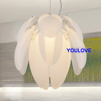 Dia34cm Modern pendant light white pinecone lamp LED bulb pine cone pendant lamp bar dining room Restaurant light Free Shipping