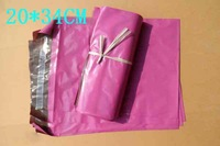 20*34CM Fuchsia High Quality Courier Bags Self-seal Bag Postal Mailing Bags 9024