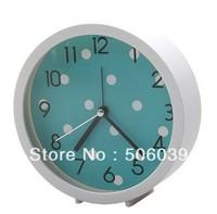 free shipping Creative ultra-quiet clock round candy clock mini sitting room bedroom clock