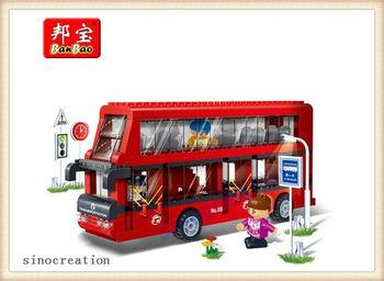 BANBAO 412pcs/set Kids DIY London City Double-decker Bus Toy Blocks 8769  Free Shipping