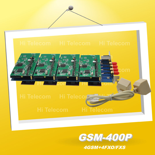 GSM400P 4 port GSM Asterisk card,GSM400P PCI card for GSM gateway PSTN IP PBX(China (Mainland))