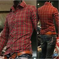 Free Shipping 2014Mens Slim fit Unique neckline stylish Dress long Sleeve Shirts Mens dress shirts5920,size: M-XXL