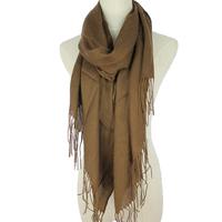 Hot 9 colors fashion female cotton tassel long scarf wraps 190*69cm cape dual-use simple design solid color free shipping