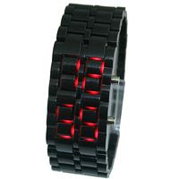 Plastic Black Color Lava Mens Male Teenagers LED Display Sport Quartz Digtal Bracelet Watches. Free & Drop Shipping