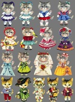 Cat  Iron-on Transfers For Clothes/Leather Heat Transfer Press Patches Stickers Drop Shipping Wholesale(no 789343363