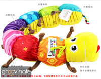 1set/lot Free Shipping Popular Colorful Musical Inchworm Soft Lovely Developmental Baby&Children&Kid Toys Gift