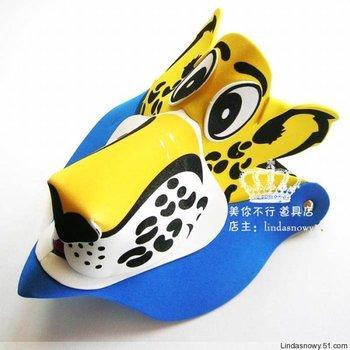 Kindergarten toy animal style hair accessory animal hat child small leopard hat hair accessory