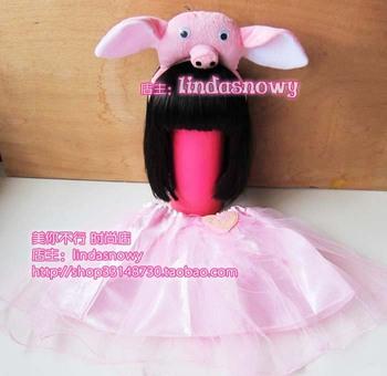 Dance clothes flower girl props child princess puff skirt dress gauze skirt shote twinset
