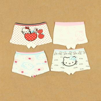 Female child 100% breathable cotton boxer shorts boxer shorts infant baby child lycra cotton small panties
