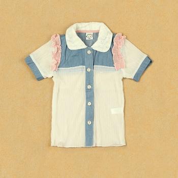 Children summer gentlewomen princess female child baby thin breathable transparent chiffon shirt short-sleeve cardigan