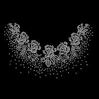 Blingbling clothes accessories rhinestone diy rhinestones flower o-neck hot map t70