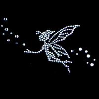 Clothes decoration hot map rhinestones sparkling dmc czech diamond small angel rhinestone hot map t46