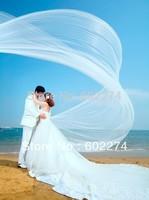 Bride Wedding Ultra Long Elegant Yarn 5 meters Train Veil Free Shipping