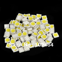 DIY 10-12LM 6000-6500K White SMD 5050 LED (100-Piece Pack)