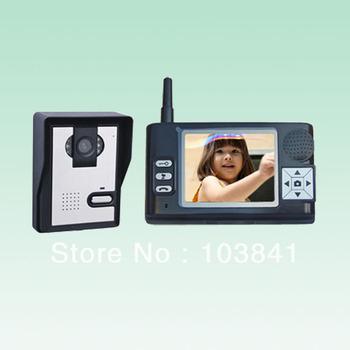 Wireless Video Intercom System/wireless color video door phone/ bell indoor monitor system/3.5 inch wireless video door phone
