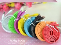 2m Color Noodle Micro USB Sync Data&Charge Cable For  Samsung Galaxy S3 I9300 Galaxy Note 2 N7100 ,HTC, Dropshipping