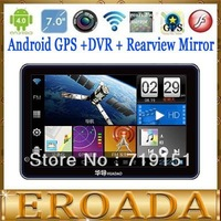 7inch android car GPS tablet GPS with Rearview Camera car DVR capacitance screen 7 inch gps navigation wireless reversing 4.0